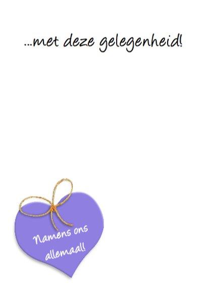 Geraniums in mand met hart Felicitatie 3