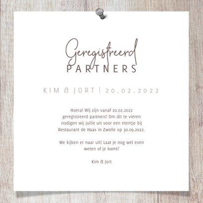 Geregistreerd partnerschap hout met foto's en spijkers 3