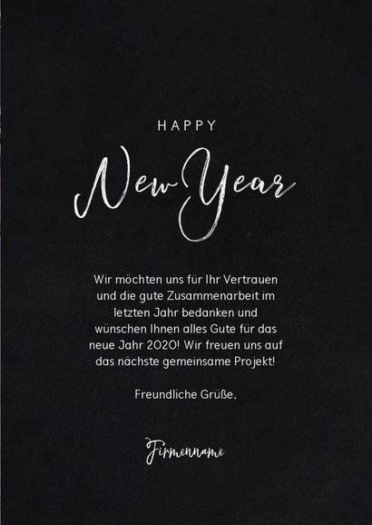 Geschäftliche Neujahrskarte 4 Fotos und Happy New Year 3