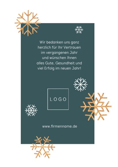 Geschäftliche Weihnachtskarte Foto und Schneeflocken 3