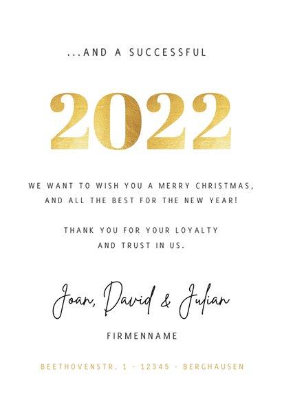 Geschäftliche Weihnachtskarte Fotocollage international 3