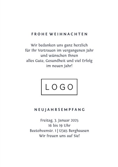Geschäftliche Weihnachtskarte Fotocollage & Tannenzweige 3