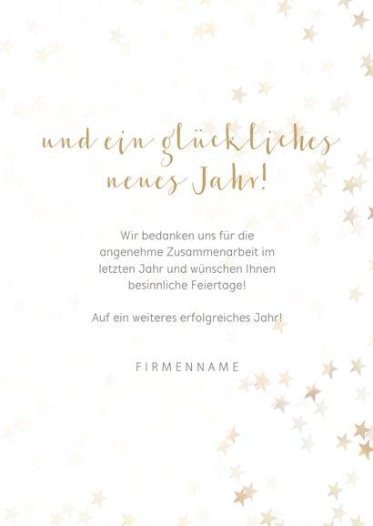 Geschäftliche Weihnachtskarte goldener Tannenbaum 3
