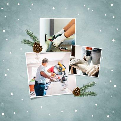 Geschäftliche Weihnachtskarte Holzschild & Schneeflocken 2
