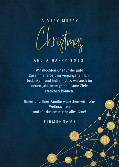 Geschäftliche Weihnachtskarte IT-Branche  3