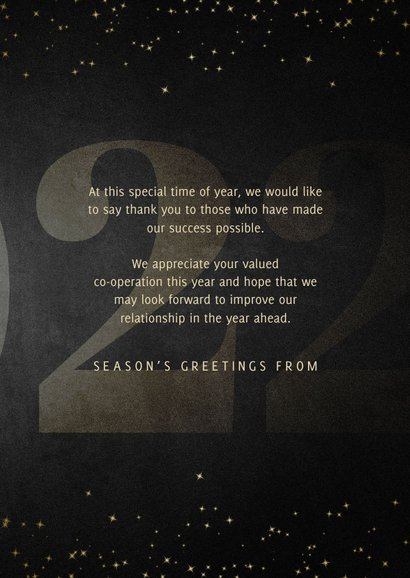 Geschäftliche Weihnachtskarte Jahreszahl & Christmas 3