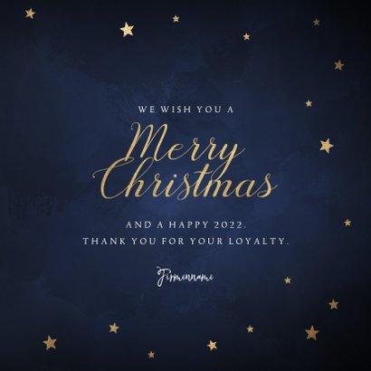 Geschäftliche Weihnachtskarte Merry Christmas und Sterne 3