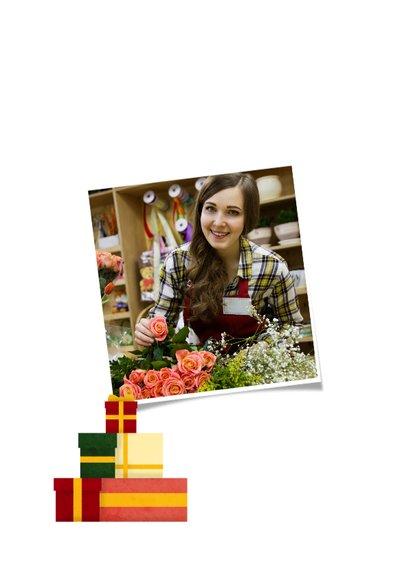 Geschäftliche Weihnachtskarte mit Baum aus Geschenken 2