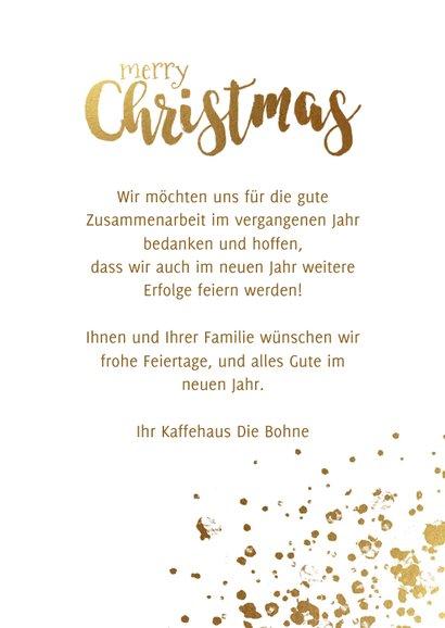 Geschäftliche Weihnachtskarte mit Fotos auf Holz 3