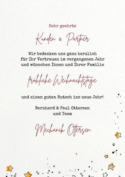 """Geschäftliche Weihnachtskarte mit Icons """"Mechanik"""" 3"""