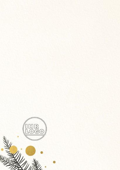 Geschäftliche Weihnachtskarte mit Tannenzweigen 2