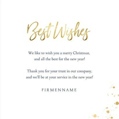 Geschäftliche Weihnachtskarte mit Weihnachtskugel 3