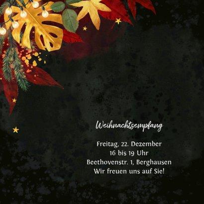 Geschäftliche Weihnachtskarte stilvoll & warm 2