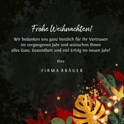 Geschäftliche Weihnachtskarte stilvoll & warm 3