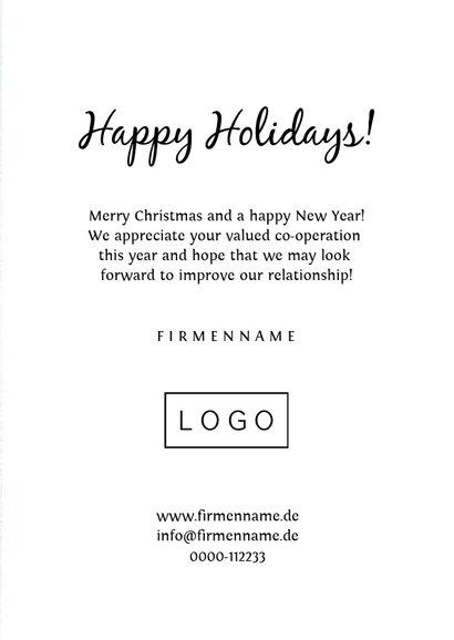 Geschäftliche Weihnachtskarte Tannenbaum aus Fotos 3