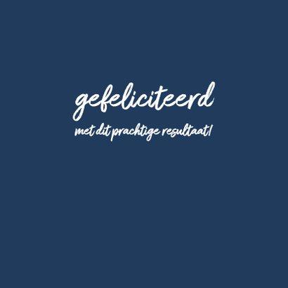 Geslaagd - blauw you did it 3