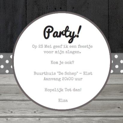 Geslaagd feestje uitnodiging  3