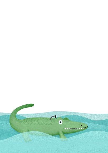 Geslaagd hip krokodil zwemdiploma foto 2