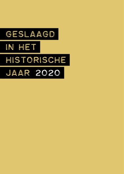 Geslaagd in het historische jaar 2020 2