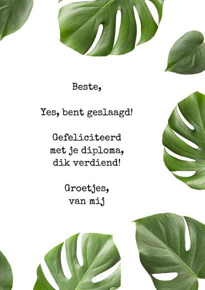 Geslaagd kaart Botanisch Yes you did it congrats 3
