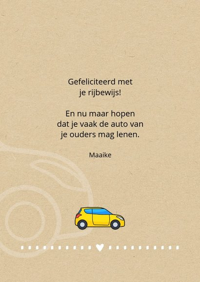 Geslaagd rijbewijs Be cool and drive a car 3