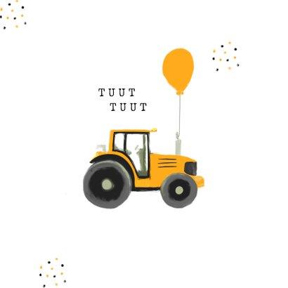 Geslaagd rijbewijs tractor confetti okergeel 2