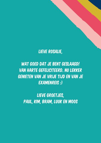 Geslaagd, so proud of you-kaart 3