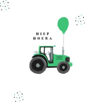 Geslaagd tractor rijbewijs hip confetti foto groen 2