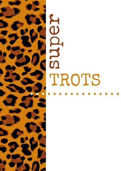 Geslaagd Typografisch met luipaardprint 2