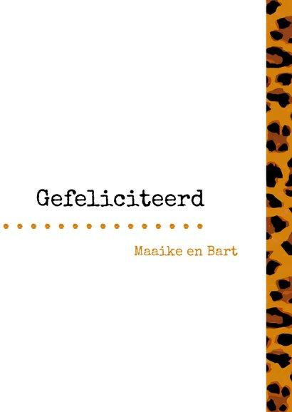 Geslaagd Typografisch met luipaardprint 3