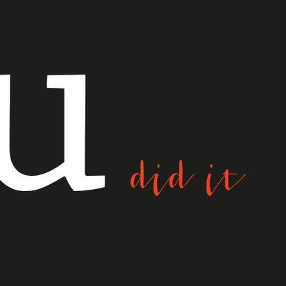 Geslaagd typografisch yes 3