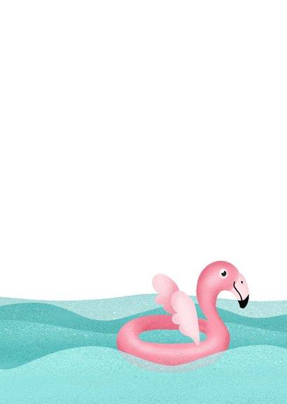 Geslaagd zwemdiploma flamingo felicitatie meisje roze foto 2