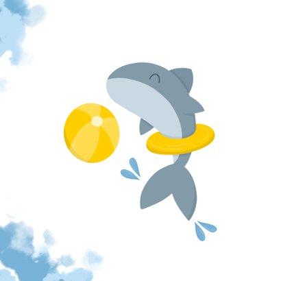 Geslaagd zwemdiploma haai met band en bal 2