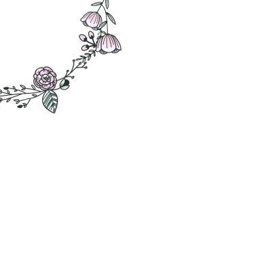Geslaagdkaart bloemenkransje 2