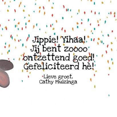 Muis die een gat in de lucht springt! Zo blij!! 3