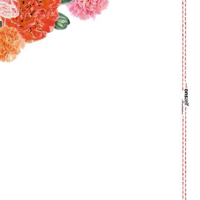 'Get well soon' beterschapskaart met een bloemenrand 2