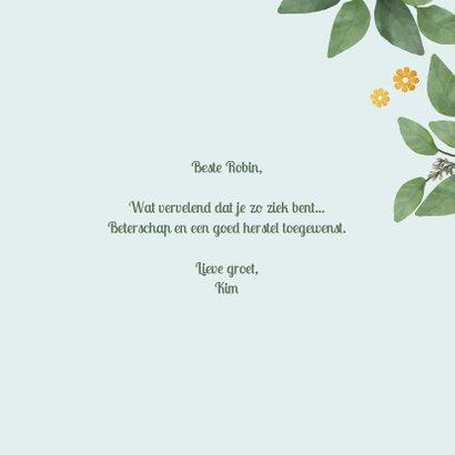 Get well soon - botanische beterschapskaart 3