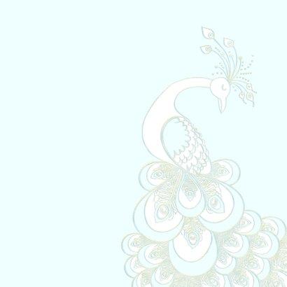 Getuige kaart met sierlijke pauw 2