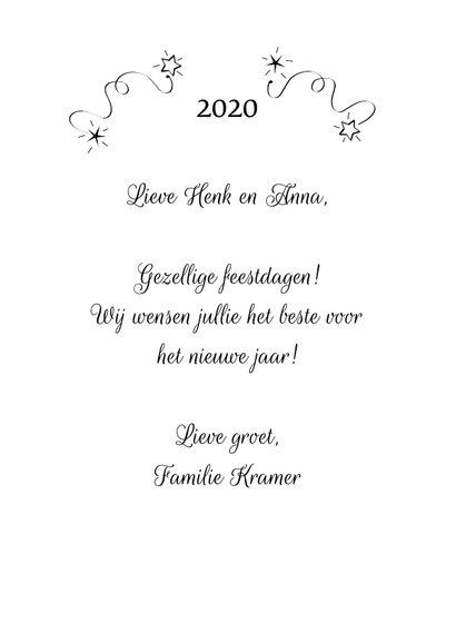Gezellig feestdagen geschreven 2020 3