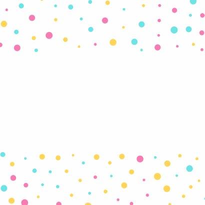 Gezellige confetti verjaardagskaart 2