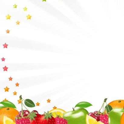 Gezond 2019 nieuwjaarskaart met fruit 2