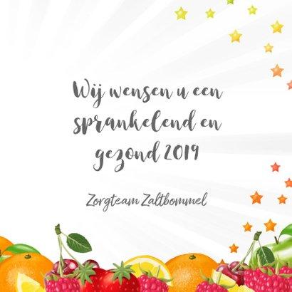 Gezond 2019 nieuwjaarskaart met fruit 3