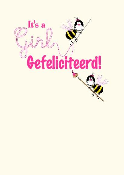 GIRL Baby geboren bloemen en bijtjes 3