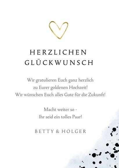 Glückwunschkarte zur goldenen Hochzeit mit Zahlenballon 3