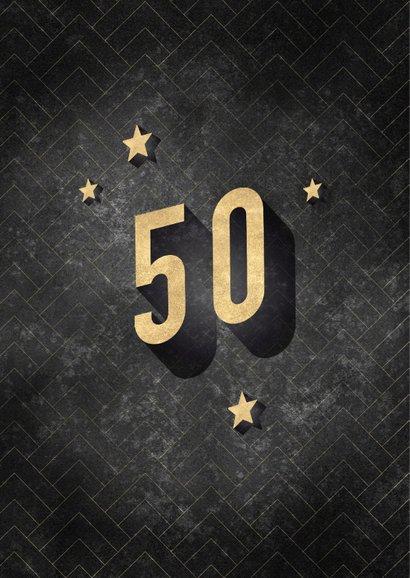Glückwunschkarte 50. Geburtstag Vintage 2