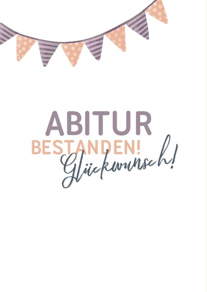 Glückwunschkarte Abitur bestanden rosé Foto 2
