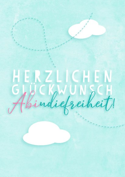 Glückwunschkarte Abitur Papierflieger 2