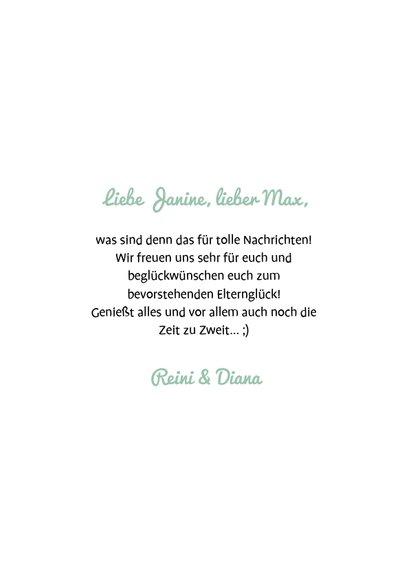Glückwunschkarte Baby on the way Schwangerschaft 3