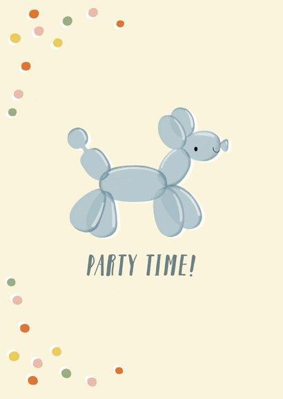 Glückwunschkarte Ballon-Hund und Konfetti 2