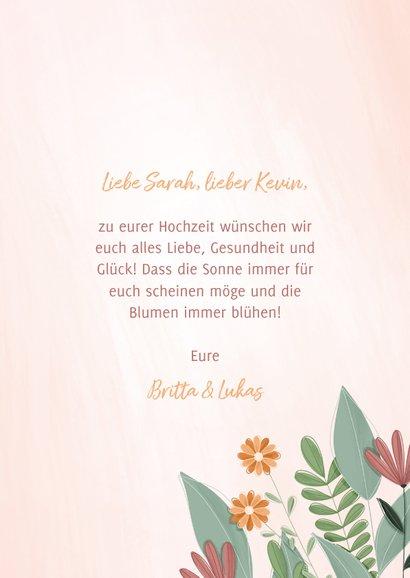 Glückwunschkarte Blumenstrauß mit Band 3